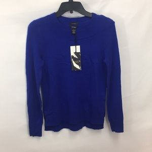Halogen Crewneck 100% Cashmere Sweater Blue
